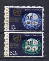 MAURITIUS - 1970 - 25° Anniversario Delle Nazioni Unite - 2 Valori - Nuovi - Linguellati - (FDC16881) - Mauritius (1968-...)
