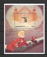Disney Maldives 1993 Peter And The Wolf MS #2 MNH - Disney