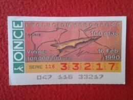 SPAIN CUPÓN DE ONCE LOTTERY LOTERÍA ESPAÑA 1990 EVOLUCIÓN Y PROGRESO EVOLUTION AND PROGRESS LA CAZA THE HUNTING CHASSE.. - Billetes De Lotería