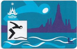 Thailand - LENSO (Chip) - 13th Asian Games, Bangkok #1 - 300฿, Used - Thailand
