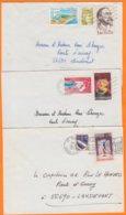 22 COTES Du NORD  Lot De 3 Lettres  Années Mélangées Pour 56690 LANDEVANT    Avec Affranchissements Divers - Marcophilie (Lettres)