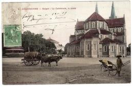 VIET NAM - SAIGON - La Cathédrale, La Poste - Carte Colorisée / Colored Card - Ed. Coll. Poujade De Ladevèze - Vietnam