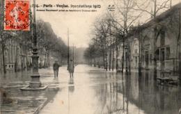 PARIS - Avenue Daumesnil Prise Au Boulevard Diderot - Janvier 1910 - Inondations De 1910