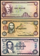 Jamaica Giamaica Lotto 5 Banconote 1-2-10-20-50 $ LOTTO 2781 - Giamaica