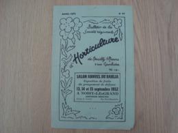 PROGRAMME SALON ANNUEL HORTICULTURE NEUILLY SUR MARNE 1952 NOISY-LE-GRAND - Programs
