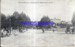 119669 BELGIUM PHILIPPEVILLE FAUBOURG OF SCHOOL ESTERANCE POSTAL POSTCARD - Skikda (Philippeville)