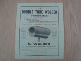 DOCUMENT PUBLICITAIRE DOUBLE TUBE WOLBER PNEUMATIQUE CYCLISME - Cars