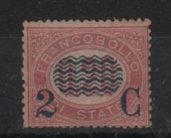 1878 Francobolli Di Servizio 2 C. Su 0,20 MLH Firmato Diena Ben Centrato ++ - 1861-78 Victor Emmanuel II.