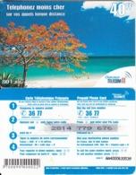 FRENCH ANTILLES & REUNION - Beach, Outremer Telecom Prepaid Card 40 FF, Large CN, Used - Antilles (Françaises)