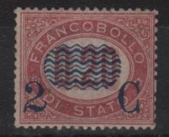 1878 Francobolli Di Servizio 2 C. Su 0,20 MNH SPL Centratissimo ++++ - Nuevos