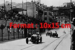 Reproduction D'une Photographie Ancienne Du Grand Prix Automobiles De Monaco Avec Bugatti En 1929 - Riproduzioni