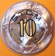 HK$10 Casino Chip(Jeton). STDM - Sociedade De Tourismo E Diverso De Macau. Q04. - Casino