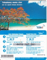 FRENCH ANTILLES & REUNION - Beach, Outremer Telecom Prepaid Card 40 FF, Small CN, Used - Antilles (Françaises)
