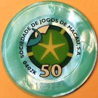 HK$50 Casino Chip(Jeton). STM - Sociedade De Jogos De Macau. Q05. - Casino