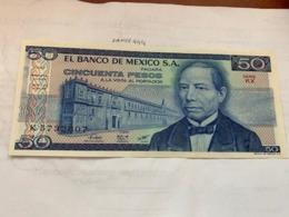 Mexico 50 Pesos Unc. Banknote 1981 - Messico