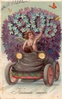 ANNEE 1905 - Heureuse Année - Carte Gauffrée - Nieuwjaar