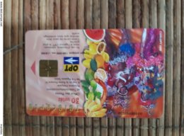 Phonecard Polynesia Carnaval Used Rare - Frans-Polynesië