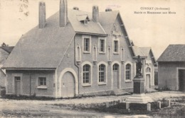 CPA 08 CORNAY MAIRIE ET MONUMENT AUX MORTS - France