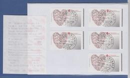 Portugal ATM Jahr Der Familie Herz Typ SMD Satz 5 Werte Mit AQ U. Orts-O FUNCHAL - Viñetas De Franqueo (ATM/Frama)