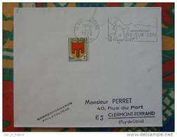 Flamme Concordante Slogan Meter Vic Sur Cere Cantal - Marcophilie (Lettres)