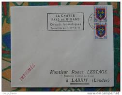 Flamme Slogan Meter La Chatre Pays De George Sand Indre - Marcophilie (Lettres)