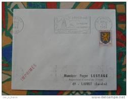 Flamme Concordante Slogan Meter Saint Amour Piscine Camping Jura - Marcophilie (Lettres)