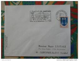 Flamme Concordante Slogan Meter Fêtes De La Madeleine 1969 Mont De Marsan Landes - Marcophilie (Lettres)