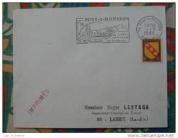 Flamme Concordante Slogan Meter Pont A Mousson Lorraine - Marcophilie (Lettres)