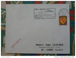 Flamme Concordante Slogan Meter Dun Sur Meuse Eglise Foret Lac - Marcophilie (Lettres)