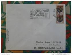 Flamme Concordante Slogan Meter Douvrin Industrie Pas De Calais - Marcophilie (Lettres)
