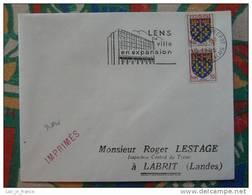 Flamme Concordante Slogan Meter Lens Entrepot Pas De Calais - Marcophilie (Lettres)