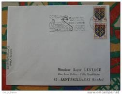 Flamme Concordante Slogan Meter St Omer Basilique Pas De Calais - Marcophilie (Lettres)