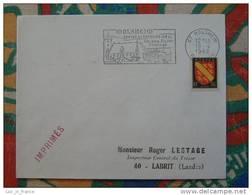 Flamme Concordante Slogan Meter Molsheim Pont Canotage Piscine Bas Rhin - Marcophilie (Lettres)