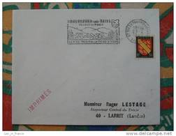 Flamme Concordante Slogan Meter Niederbronn Centre Thermal Bas Rhin - Marcophilie (Lettres)