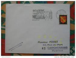 Flamme Concordante Slogan Meter Selestat Bas Rhin - Marcophilie (Lettres)