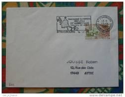 Flamme Concordante Slogan Meter Traité De Rome Strasbourg Conseil Europe - Poststempel (Briefe)