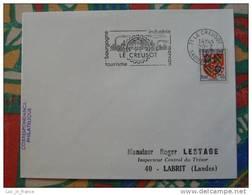 Flamme Concordante Slogan Meter Le Creusot Saone Et Loire - Marcophilie (Lettres)