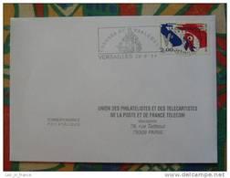Flamme Concordante Slogan Meter Congrès Du Parlement Versailles Yvelynes - Marcophilie (Lettres)