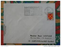 Flamme Slogan Meter Bressuire Clocher Chateau Piscine Deux Sevres - Marcophilie (Lettres)