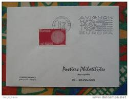 Flamme Concordante Slogan Meter Europa Avignon - Marcophilie (Lettres)