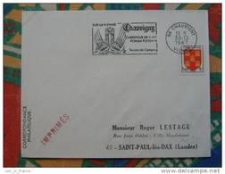 Flamme Concordante Slogan Meter Chauvigny Art Roman Vienne - Marcophilie (Lettres)