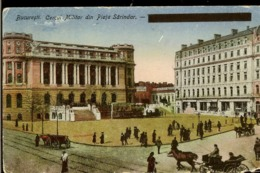 Postcard, FRomania, Old, Bucuresti, Army Club, Used 1919, , Very Used  Right Down Corner, Publ. Depozitul I. Saraga - Romania
