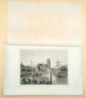 Staalgravure 'Dortrecht, De Groote Kerk'/ Steel Engraving 'Dortrecht, The Great Church', Rohbock, Umbach, 1858 - Prenten & Gravure