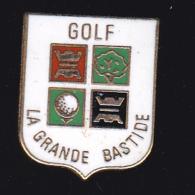 60031-pin's  Golf La Grande Bastide.signé Corner... - Golf
