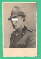 Alpini Alpino Foto Di Sottotenente  Del II° Reggimento Foto Anni 30 / 40 - Oorlog, Militair