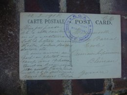 R G A Centre T S F Instruction  Cachet Franchise Postale Militaire Guerre 14.18 - Postmark Collection (Covers)