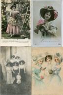 FEMMES Au CHAPEAU - LOT De 15 CPA    ================>  PORT GRATUIT (à Conditions D' Achats De 12 €)   - - Mujeres