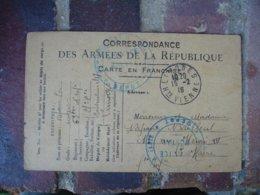 Limoges 69  Eme Regiment Infanterie   Cachet Franchise Postale Militaire Guerre 14.18 - Postmark Collection (Covers)