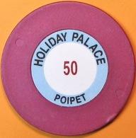 $50 Casino Chip. Holiday Palace, Poipet, Cambodia. Q05. - Casino
