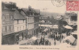 27 Cormeilles. Place Du Marché Et Route De Blangy - France